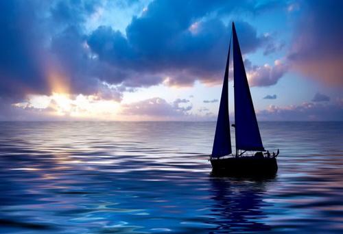 В закат на яхте