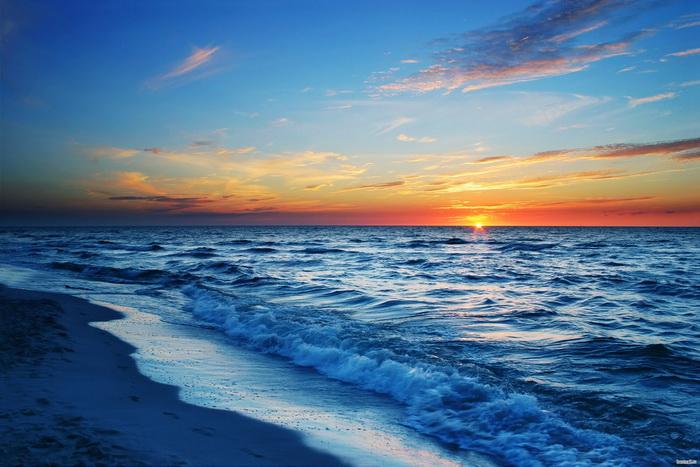 Закат на море1